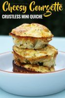 Cheesy Courgette Crustless Mini Quiche. These are made with a cheesy egg filling and fried courgettes, and make a great meal prep / make ahead breakfast, snack, or picnic food.