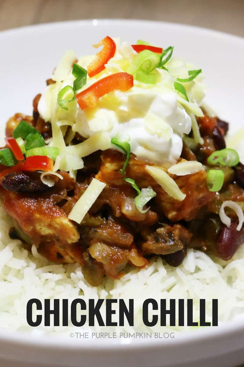 Simple chicken chilli meal prep recipe the purple pumpkin blog this simple chicken chilli is a tasty make ahead dish that you can add forumfinder Image collections