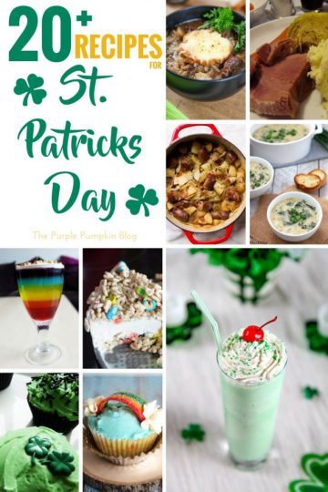 A great selection of recipes for St. Patrick's Day including savoury, and sweet dishes, cupcakes, and drinks! Celebrate the luck of the Irish and cook up some of these delicious treats!