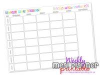 Weekly Meal Planner Free Printable