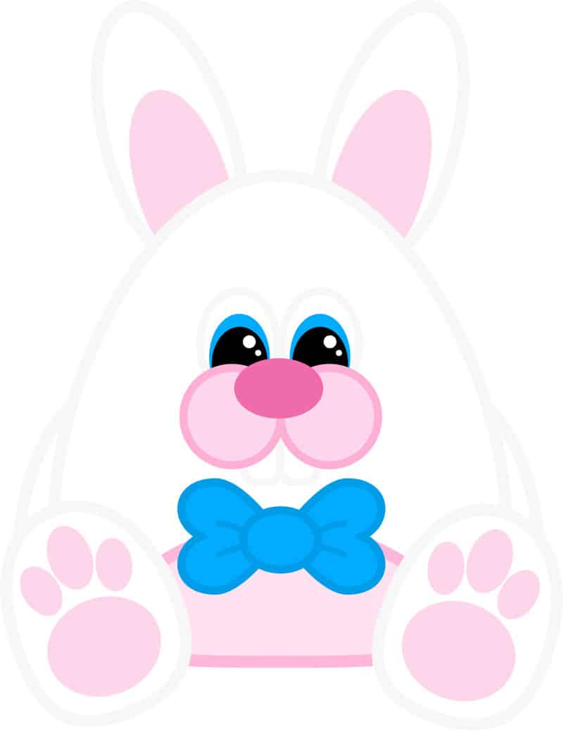free printable easter bunny boy