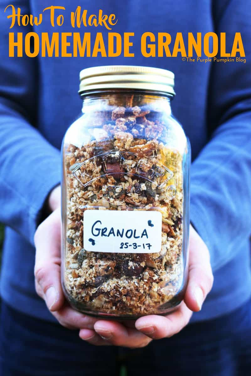 How To Make Homemade Granola - it's so easy to do, and you can tailor the ingredients to your favourite combinations!