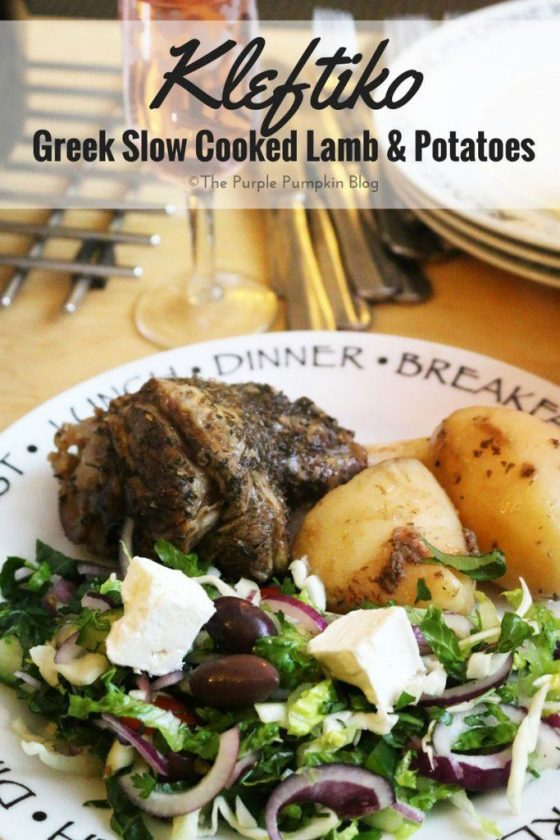 Kleftiko - Greek Slow Cooked Lamb & Potatoes. A traditional Greek-Cypriot dish, that can be cooked in the slow cooker / Crock Pot. Perfect served with a Greek Salad and some bread to mop up the gravy.