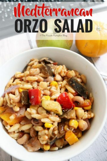 Mediterranean Orzo Salad. This is a tasty salad to enjoy in the summer ...