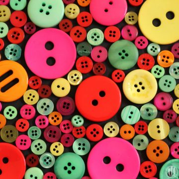 Project 365 - 2017 - Day 100 - coloured buttons