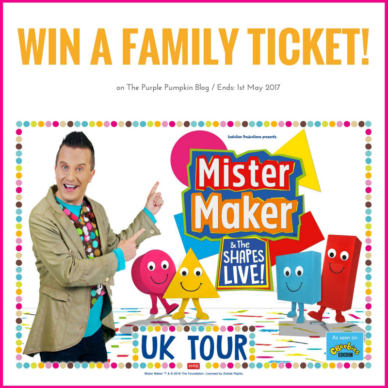 Win a Family Ticket to Mister Maker & The Shapes Live!