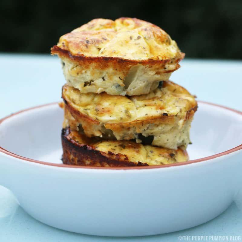 Cheesy Courgette Crustless Mini Quiche