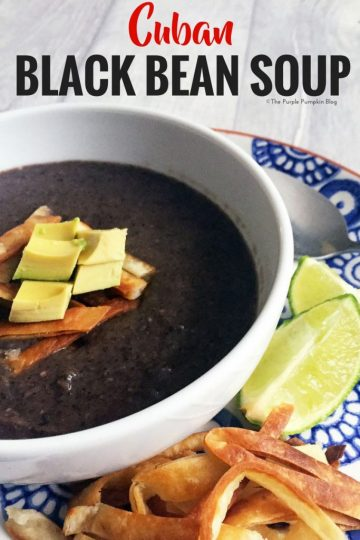 This recipe for Cuban Black Bean Soup is quick and easy to make, and tastes good too! It's a copy cat recipe from a US restaurant chain - Bahama Breeze and is a family favourite!