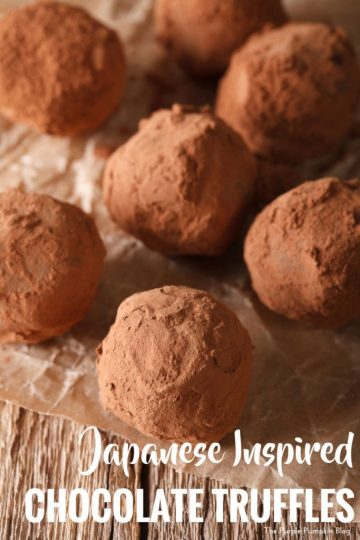 Japanese Inspired Chocolate Truffles. The fillings might be a little unusual, but give them a try - you might be pleasantly surprised at how good these chocolates are! They make a great handmade gift for a foodie too!