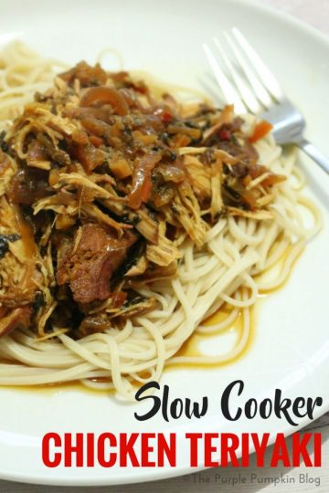 Slow Cooker Chicken Teriyaki. This is a delicious slow cooker/crock pot dump meal, and is perfect for meal prep. Just place all the ingredients in a ziploc bag, and keep refrigerated (for a couple days), or in the freezer if longer, and then dump in the pot on low for 8 hrs. Serve with noodles for a no stress dinner!