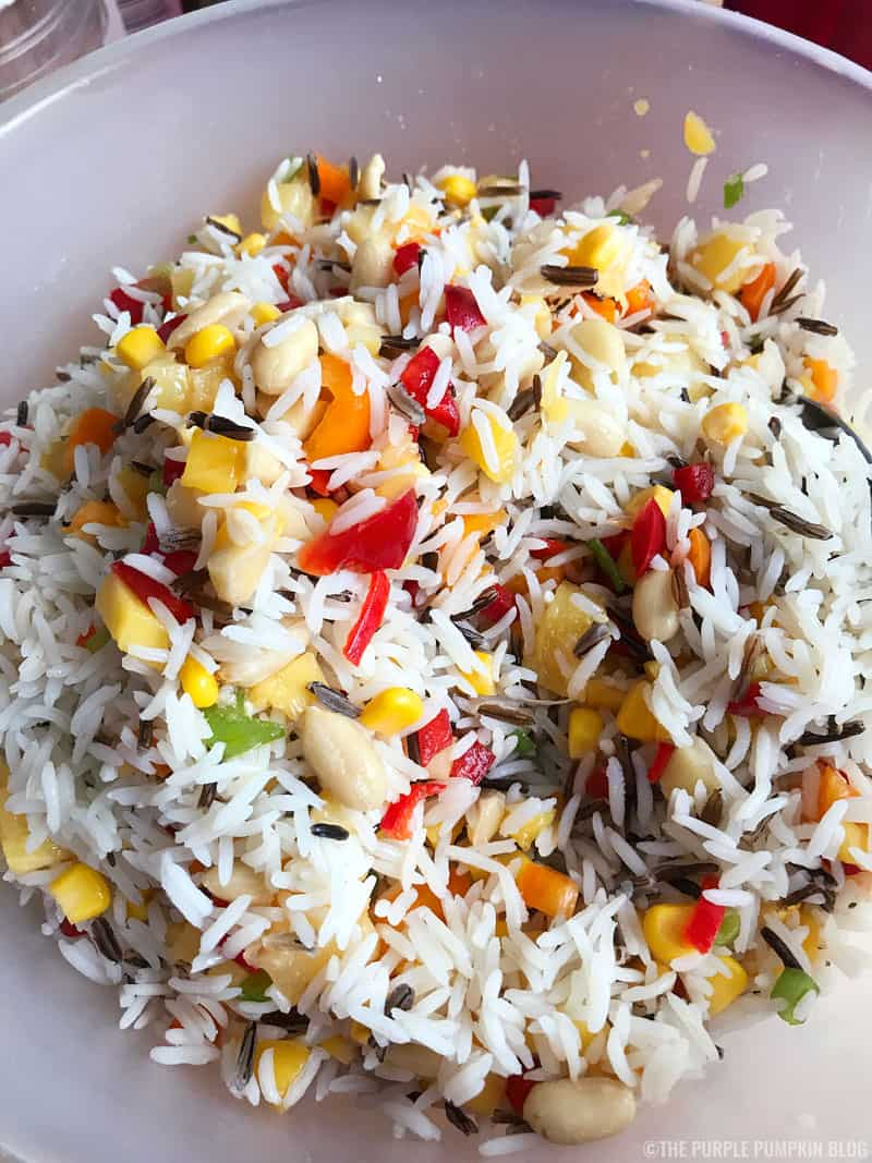 Tropical Rice Salad - A Delicious Side Dish For Barbecues!