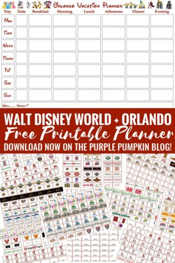 FREE PRINTABLE Walt Disney World + Orlando Vacation Planner - Week-To-View Calendar and + 150+ Labels!. This is the motherload of Disney planners!