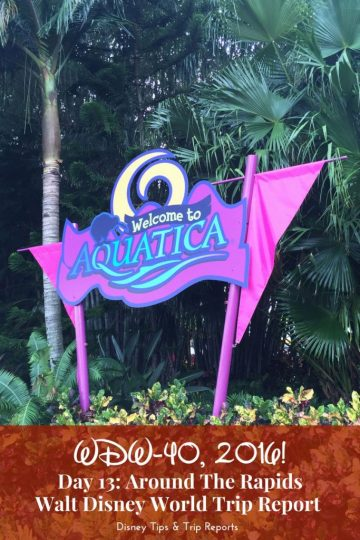 Day 13: Around The Rapids » Aquatica / Lunch at Banana Beach Cook-Out / Dinner at Longhorn Steakhouse