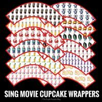 SING Movie Cupcake Wrappers