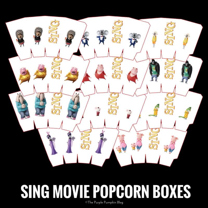 SING Movie Party Printables! Free Printables To Download