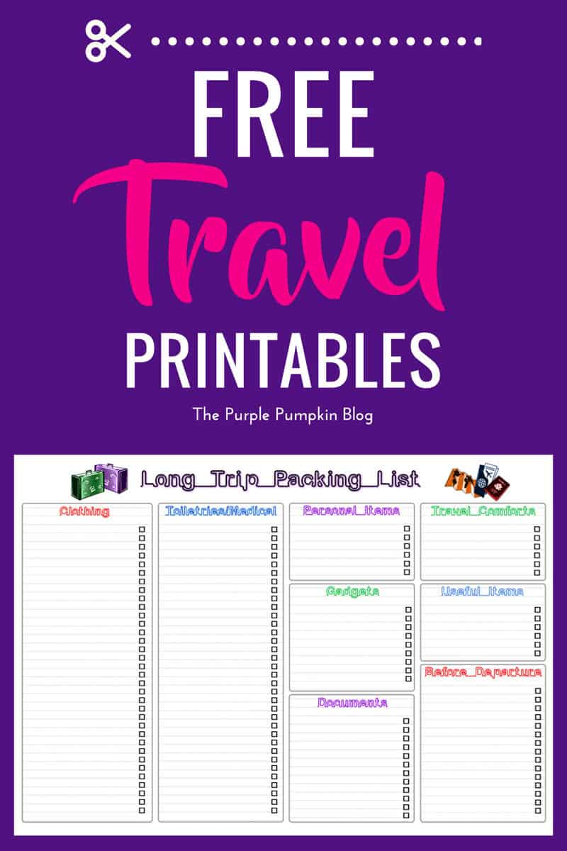 Free Travel Printables For Home Amp Away Includes Packing