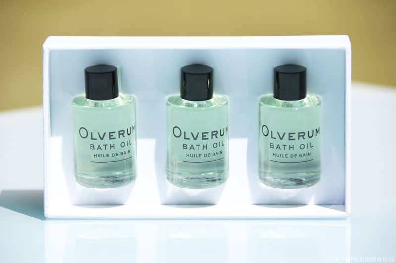 Olverum Bath Oil - travel set is £16 and enough for 9 baths