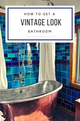 How to get a vintage look bathroom. The vintage look is very easy to recreate in your own home and can breathe a new lease of life to any bathroom!