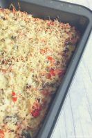 Turkey Mushroom Breakfast Casserole