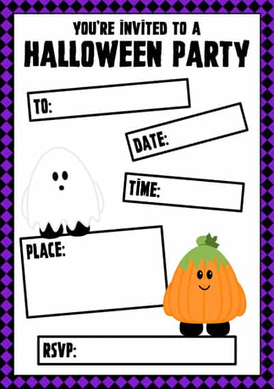 Free Printable Cute Halloween Party Invitations – Halloween Party Invitations Free