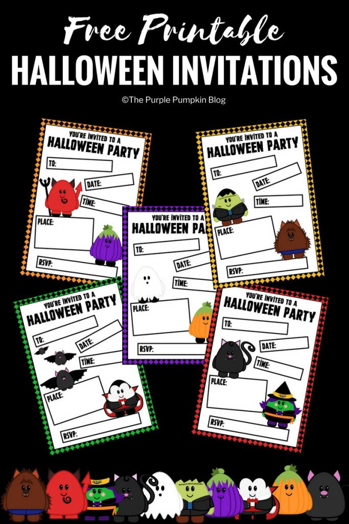 Free Printable Cute Halloween Party Invitations