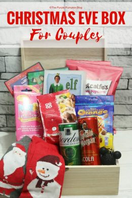 Christmas Eve boxes are growing in popularity - especially for kids, but what about one for the grown ups? Check out this Christmas Eve Box for Couples with lots of fun ideas to put inside!