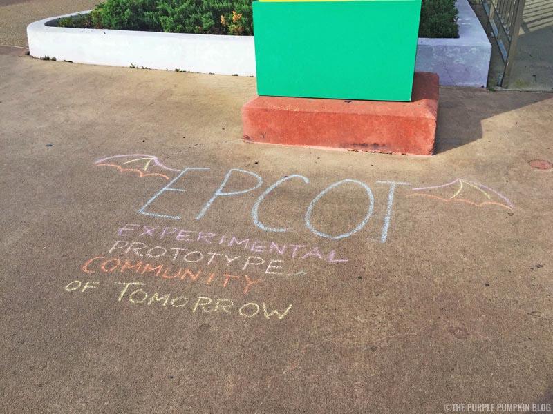 Chalk Writing at Transportation & Ticket Center