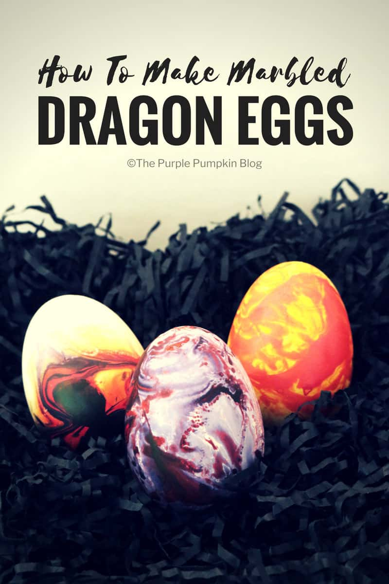 """How to make marbled dragon eggs. Using marbling ink is a fun and beautiful way to decorate paper, but what about using the technique to decorate other things, like these""""dragon"""" eggs? This tutorial shows you how!"""