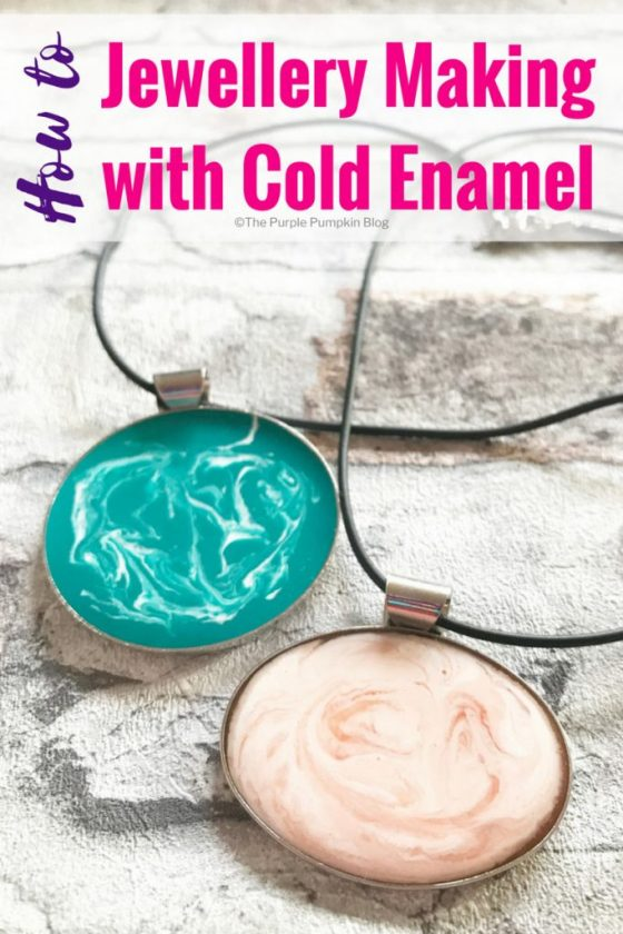 How to: Jewellery Making with Cold Enamel. A step-by-step guide to making jewelry with cold enamel. Cold enamel is a pigmented epoxy resin which gives the effect of enamel without the use of high temperatures, and also allows an enamelled effect to be applied to a wider range of materials. The finish is attractive and hard wearing, and the process is really quite simple. Once mastered you'll be making homemade jewellery and trinkets for friends and family!