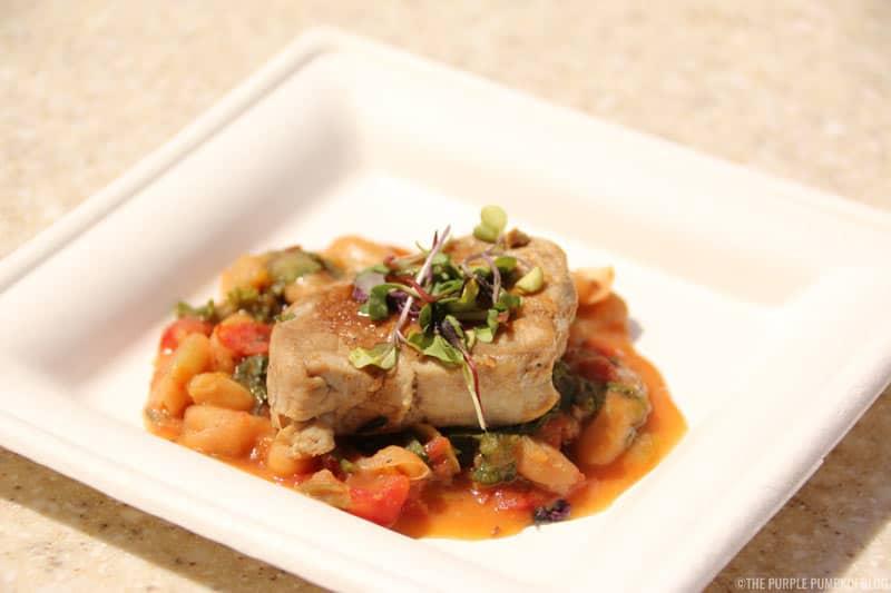 Pork Tenderloin - Served with Cannellini Bean Ragoût and Zinfandel Reduction