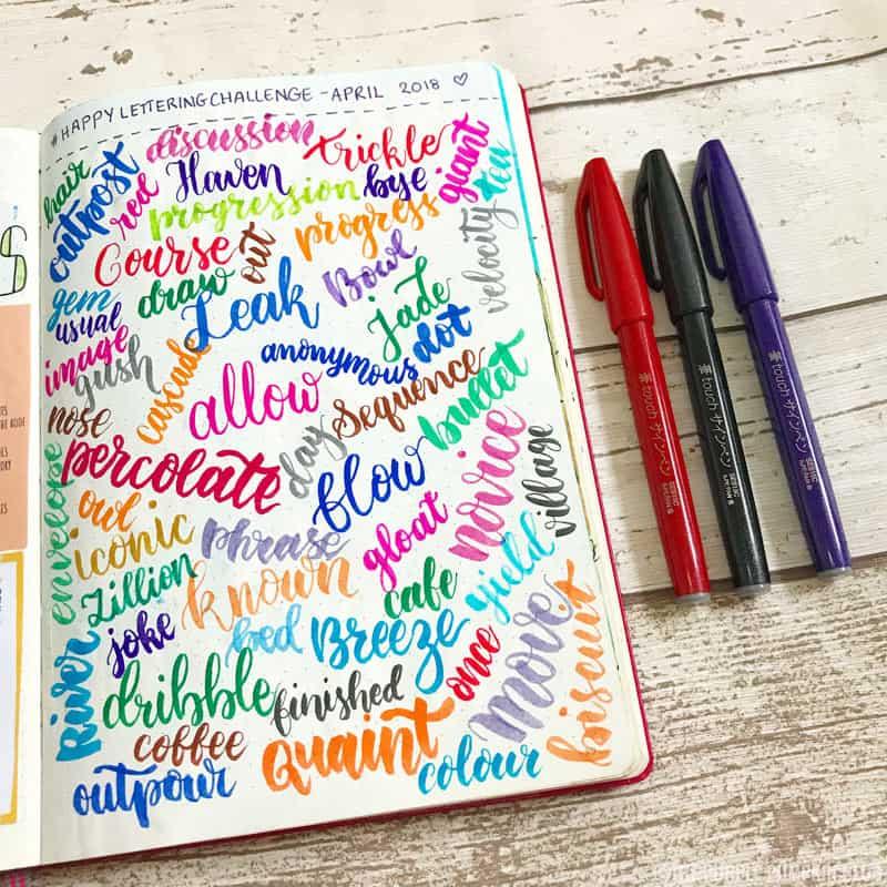 Happy Lettering Challenge