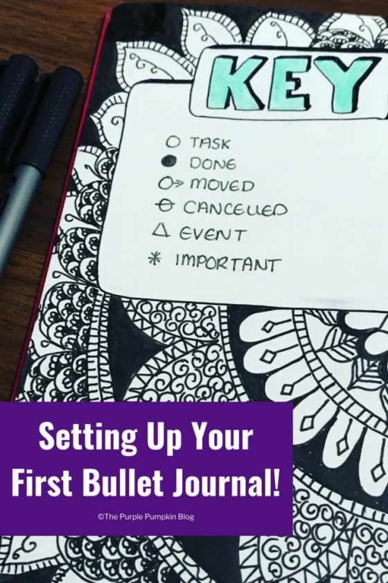 Setting Up Your First Bullet Journal! To start you just need a notebook and a pen - and once set up you can be as creative (or not!) as you please. Organise your life with a BuJo!