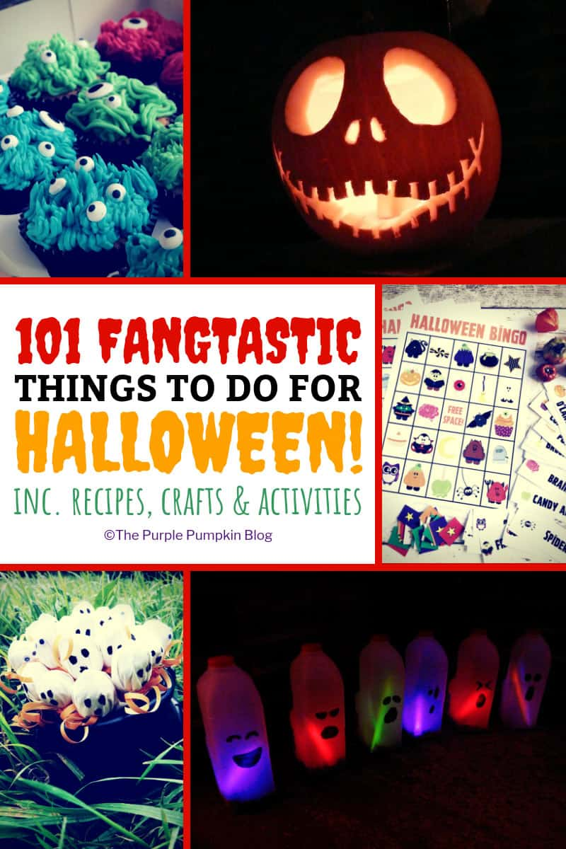 101 Fangtastic Things To Do For Halloween! This mega list of things contains so many ideas for Halloween, including recipes, crafts, activities, days out, and tons more! You won't be short on things to do for Halloween if you have this printable to hand!