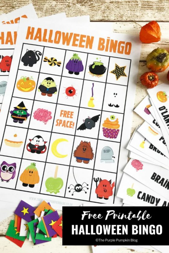 This Free Printable Halloween Bingo Game has everything you need to play a fun game of bingo with the kiddos this Halloween! Also makes a great dinner party game too!