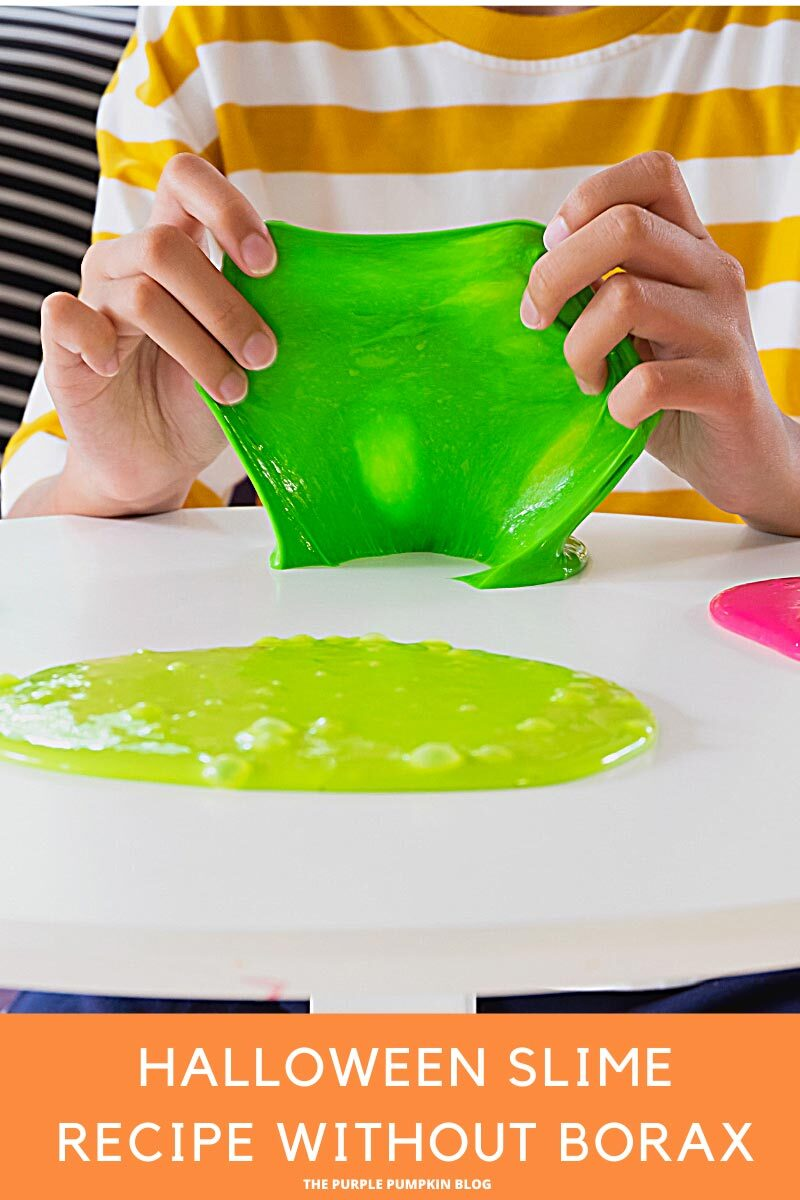 Halloween Slime Recipe without Borax