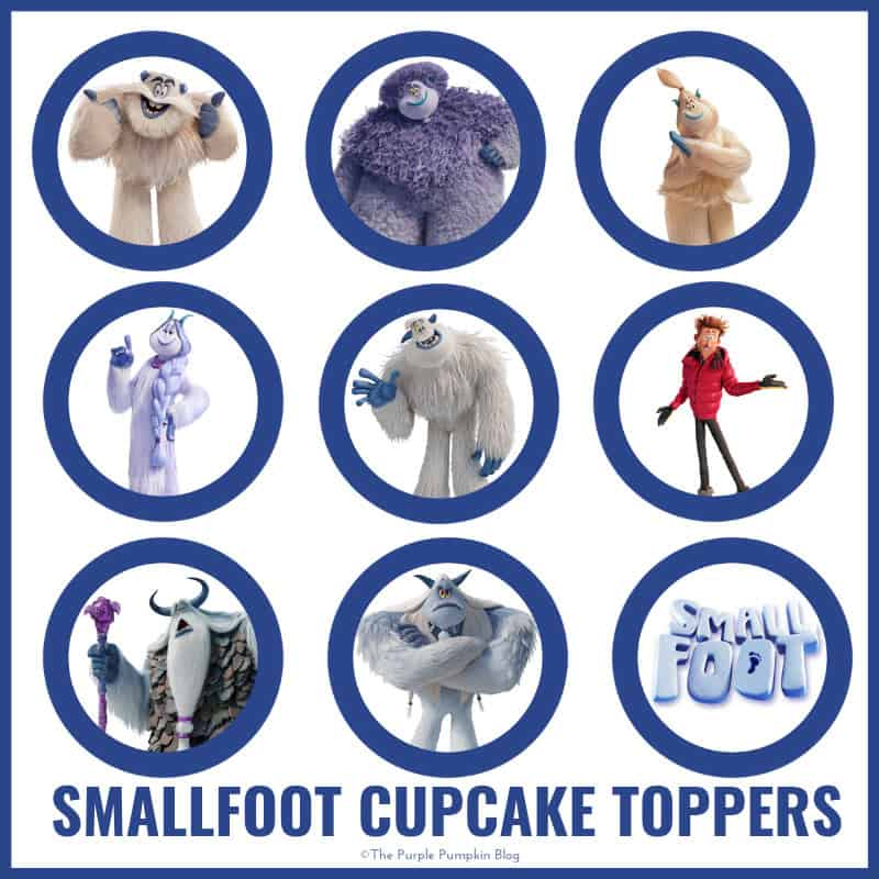 Smallfoot Cupcake Toppers