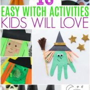 These 10 Easy Witch Activities Kids Will Love include paper crafts, painting, coloring, and some fun, witchy snacks, perfect for Halloween!