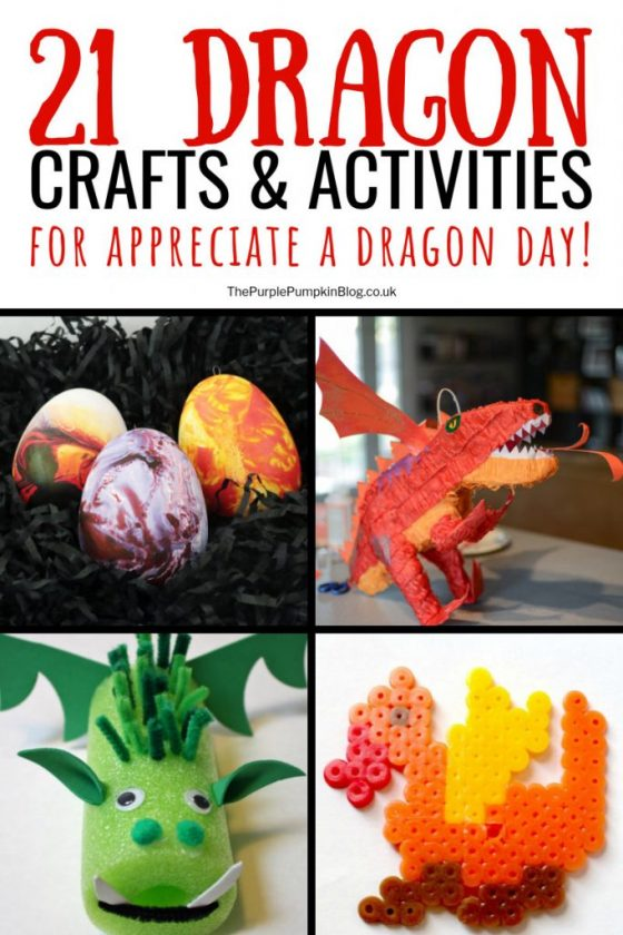 21 Dragon Crafts & Activities for Appreciate a Dragon Day!  The dragon is a powerful symbol in mythology around the world, and these dragon crafts and activities are great for kids as a way to have some creative fun and imaginative play. They can also compliment learning about dragons through books, stories, films, and television shows, as well as discovering more about different cultures through mythology.