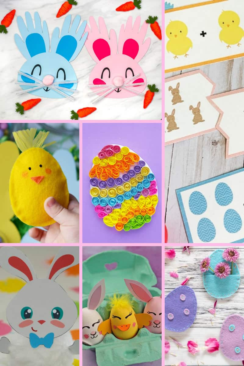 You'll find an awesome selection of kids' crafts for Easter on this website, with egg decorating, card making, hand printing and lots more!