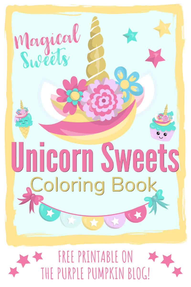 Sweet Unicorn Coloring Book