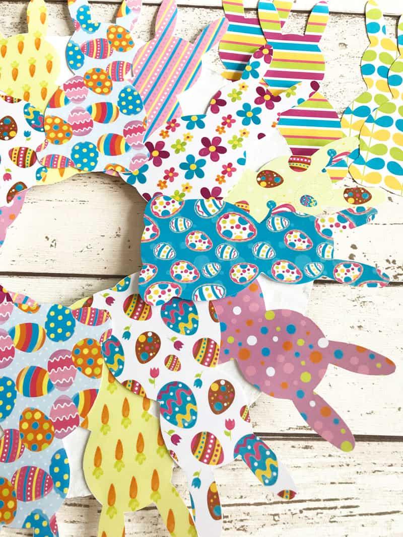 paper bunny wreath