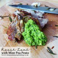 Roast Lamb with Mint Pea Pesto