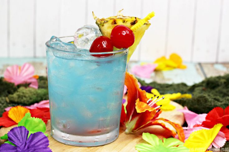 Totally Tropical Blue Hawaiian Cocktail Perfect For Luau Parties
