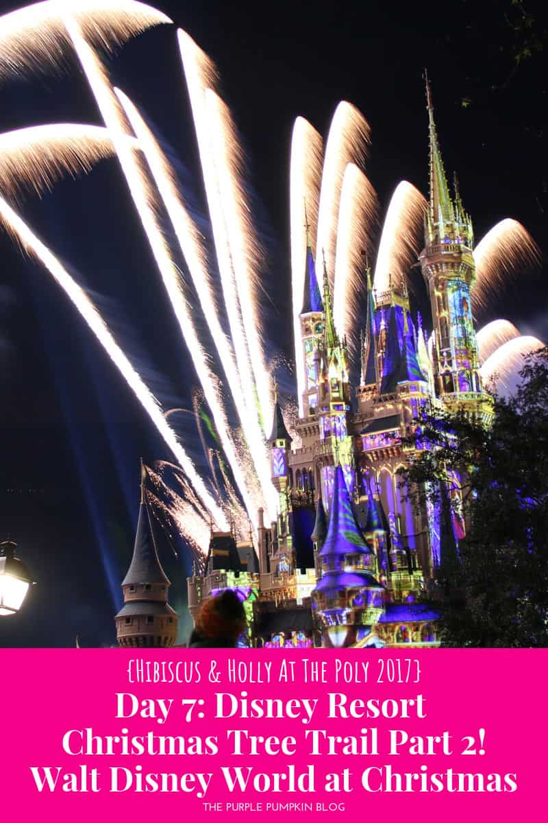 Cinderella Castle at Magic Kingdom with fireworks whooshing behind it.