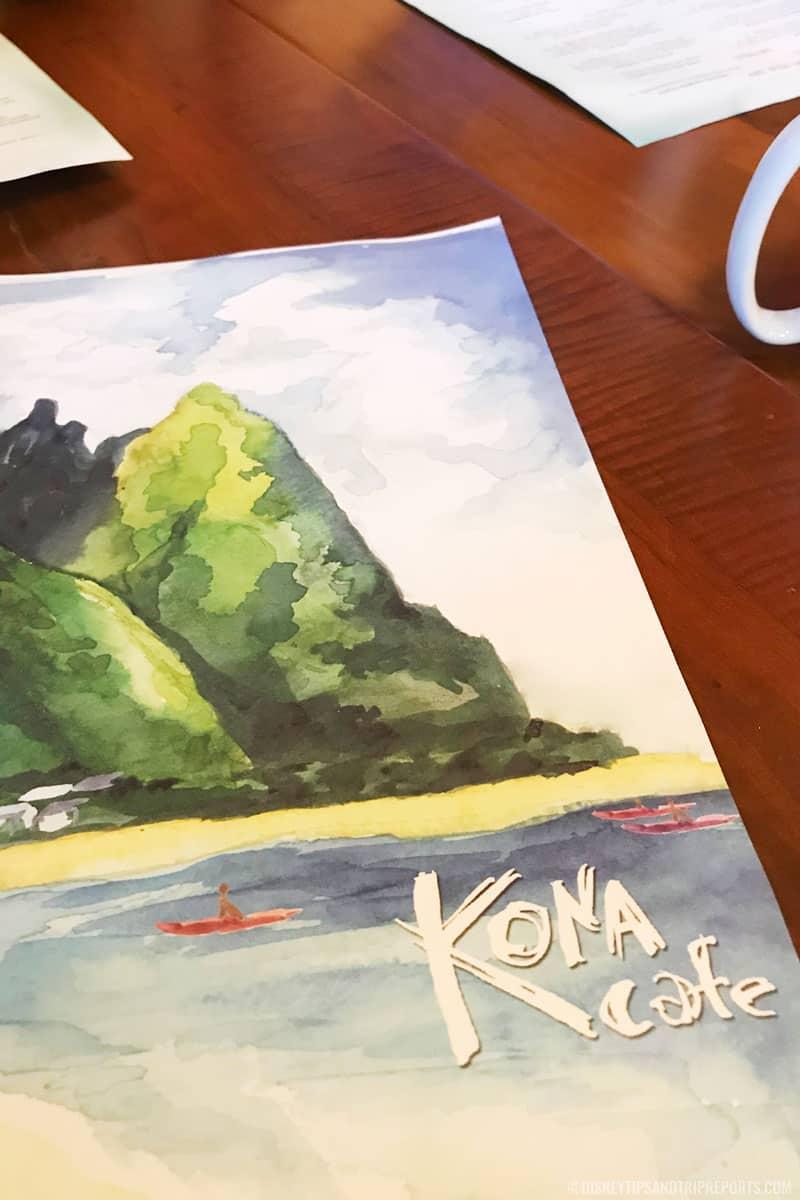 Kona Cafe Menu