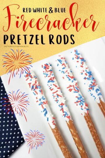 Red, White & Blue Firecracker Pretzel Rods