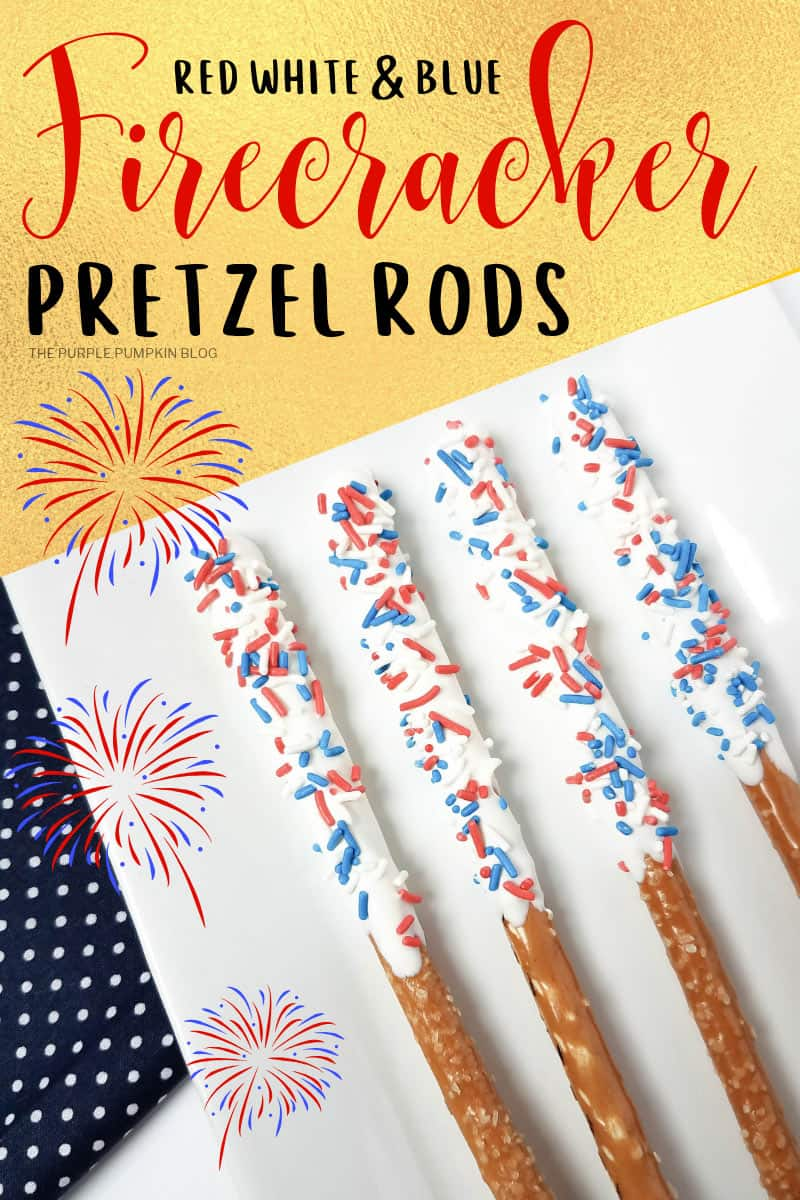 Red, White & Blue Firecracker Pretzel Rods