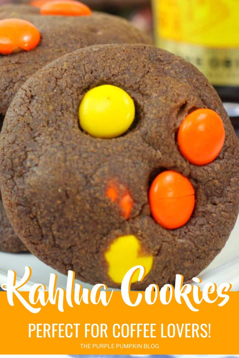 A Kahlua Cookie with orange and yellow candies