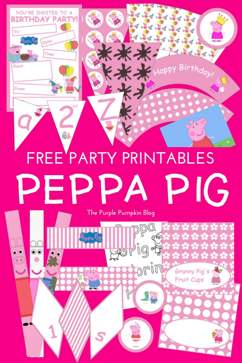 Peppa Pig Party Printables Fun Party Ideas