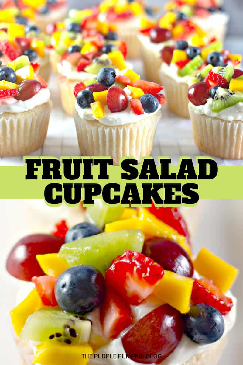 Fruit Salad Cupcakes